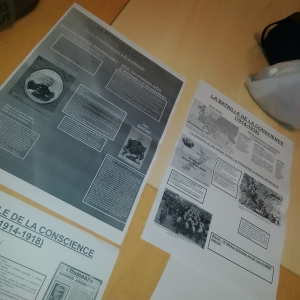 First Draft of Posters from Students in Chauny, France