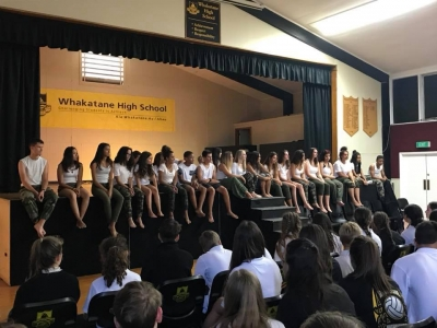 New Caledonia visitors at Whakatane High School