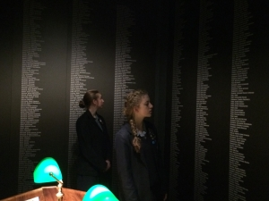 At Toitu in Dunedin in the Roll of Honour Room