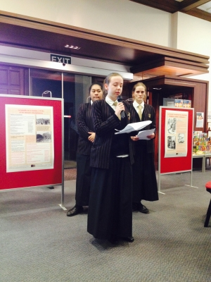 Remuera Library welcomes Shared Histories as Baradene College students launch their book